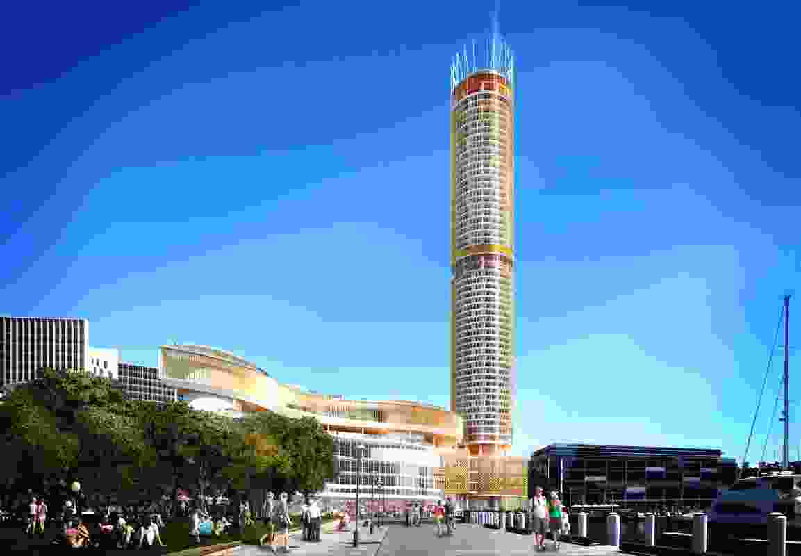 Design for the Star casino hotel tower by Grimshaw.