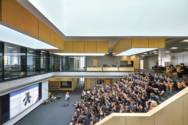 The Gipson Commons, St Michael's Grammar School by Architectus.