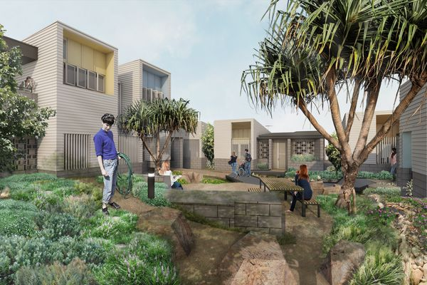 A proposed social housing demonstration project in Southport, Queensland by Anna O'Gorman.