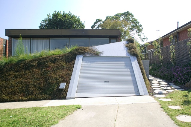 Garage + Deck + Landscape by Baracco and Wright Architects.