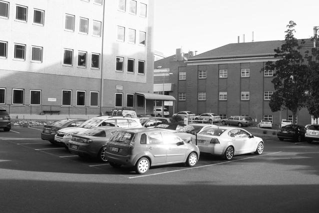 Before: Existing car park at Royal Adelaide Hospital.