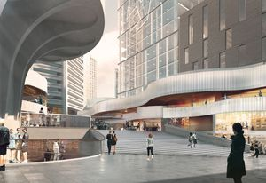 The proposed redevelopment of MLC Centre. Design led by Woods Bagot in collaboration with Harry Seidler and Associates.