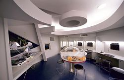 Interior of the space laboratory.