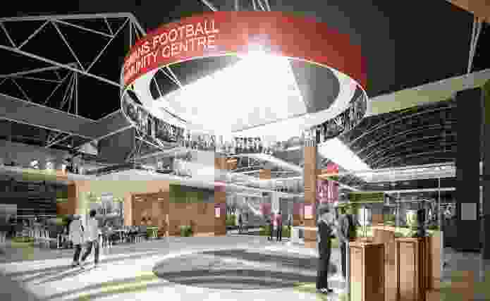 Proposed foyer of the Royal Hall of Industries.
