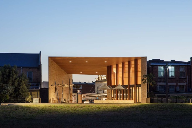 The Maitland Riverlink Building designed by CHROFI forms a strong civic identity.