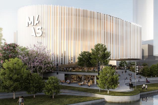 Indicative design for the proposed Powerhouse Museum in Parramatta.
