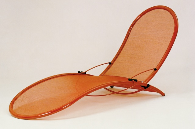 The Garden chair and chaise lounge (1980) are made from aluminium tubing and fibreglass cloth.
