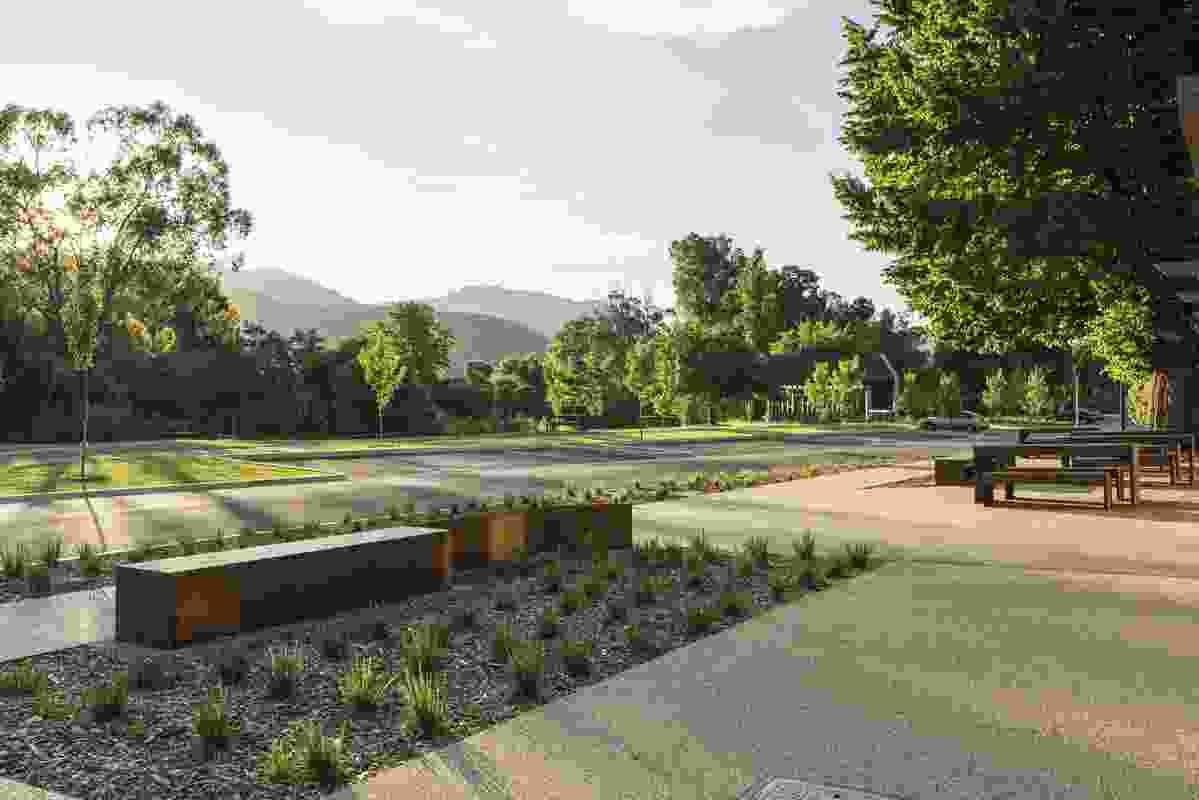 Alpine Better Places: Porepunkah by MDG Landscape Architects.