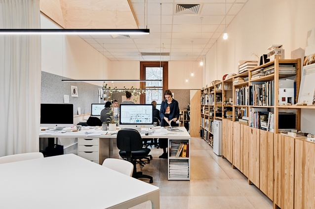 Philip Stejskal Architecture's bright, well-ventilated studio space is located within Fremantle's heritage-listed Atwell buildings (1893).
