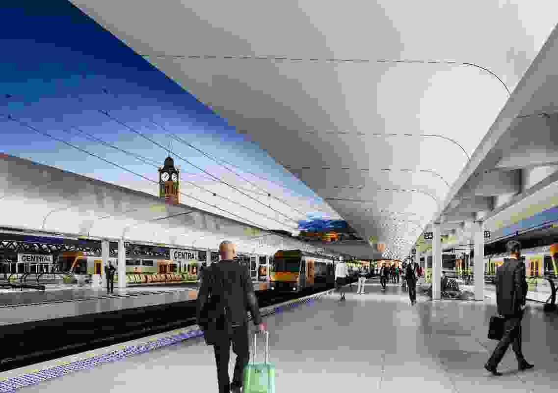 New platform canopies by Woods Bagot and John McAslan and Partners.