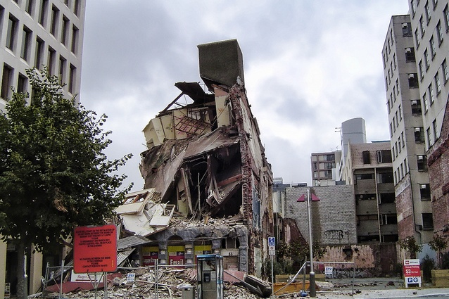 A collapsed building in central Christchurch.