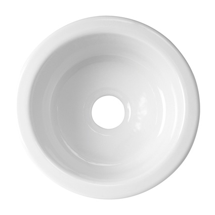 Acquello round bowl sink.