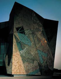 The folded form of NGV Australia's south facade. Image: Trevor Mein.