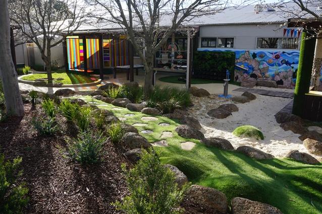 Marnebek Sensory Courtyard by Jeavons Landscape Architects.