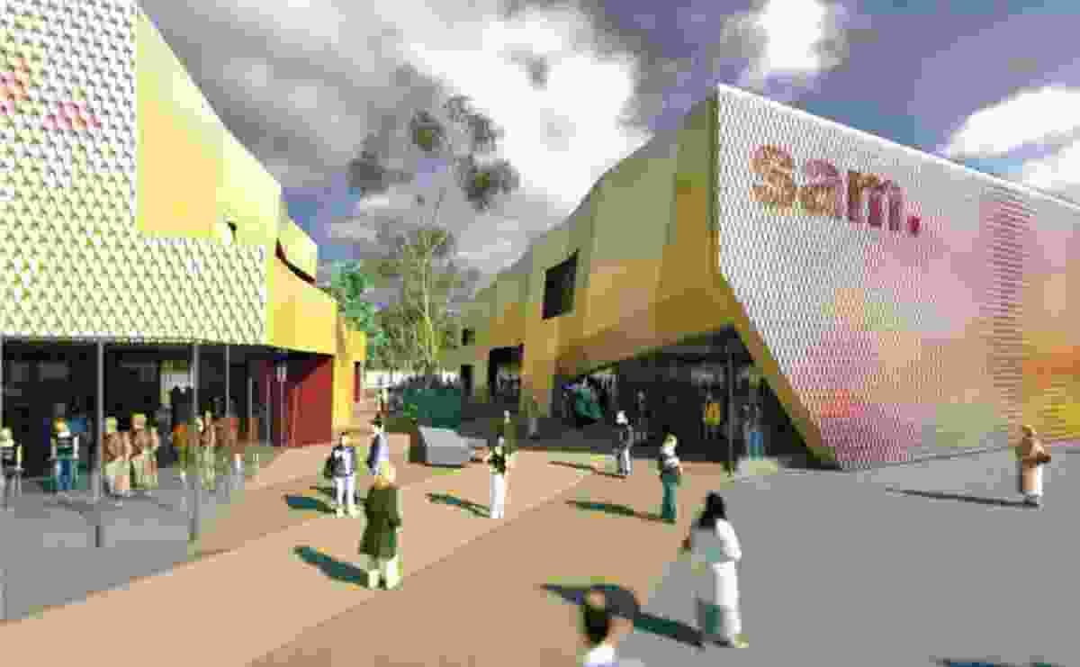 MvS Architects' design for the new Shepparton Art Museum.