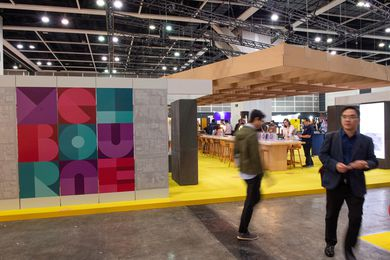 The Melbourne Pavilion at Hong Kong's DesignInspire, as part of Business of Design Week.