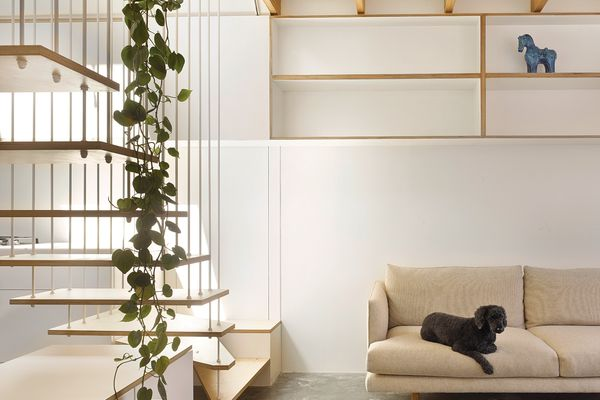 The new part of the house is bold, minimal and full of light, with a joyful expression of materials.