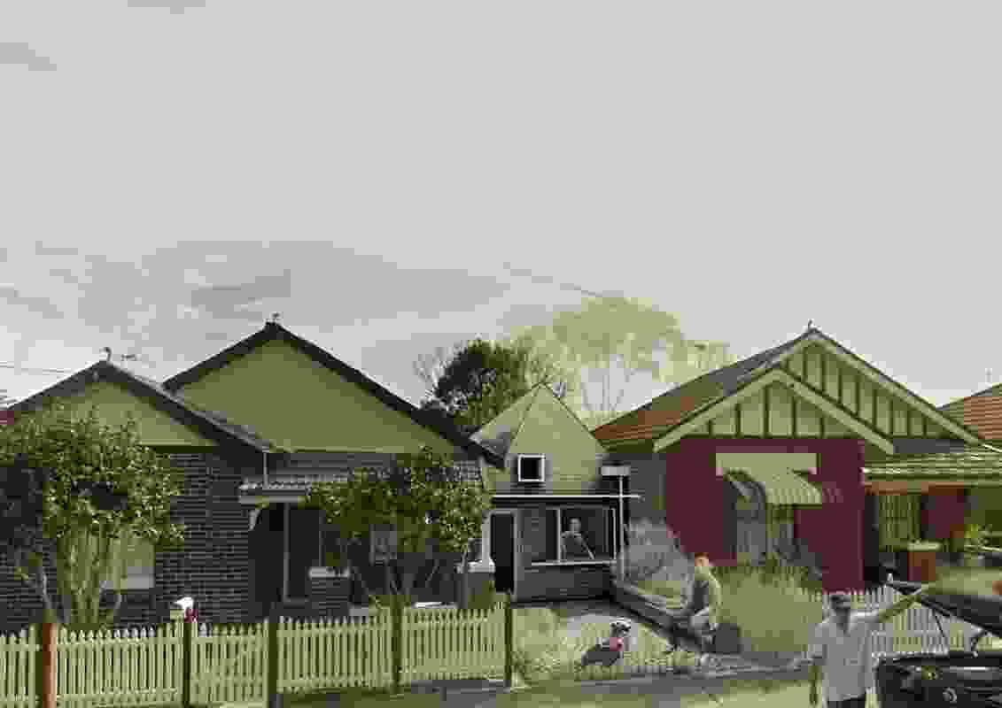 The winning Manor House design by Madigan Architecture/University of South Australia in the Missing Middle design competition.