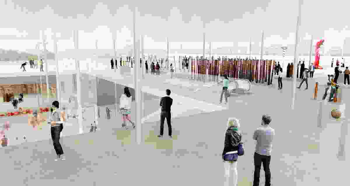 The winning proposal for the expansion of Art Gallery of NSW by SANAA.