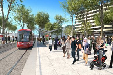 The proposed light rail station at Telopea.