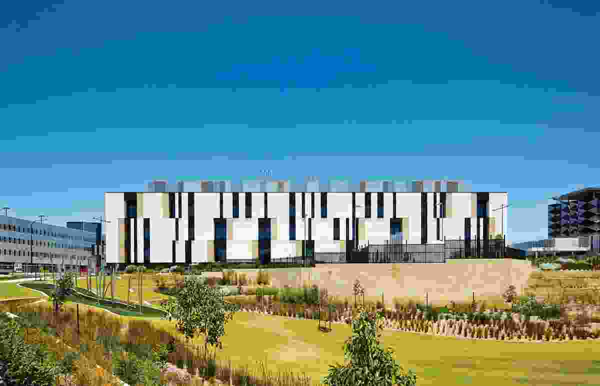 The 32-hectare site is a flagship project of Western Australia's heath reform program and includes allied services such as the State Rehabilitation Service.