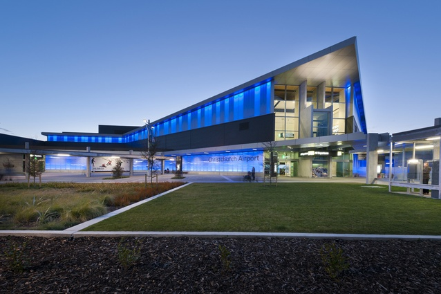 Completion date – December 2012. Christchurch Airport by Warren & Mahoney and HASSELL, 818 Wairakei Rd, Burnside. Replacing the existing domestic terminal is a major new world-class airport terminal.