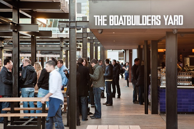 The Boatbuilders Yard: The site is a permeable pedestrian zone.
