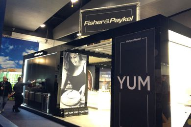 Fisher & Paykel's stand at Melbourne's Good Food and Wine Show.