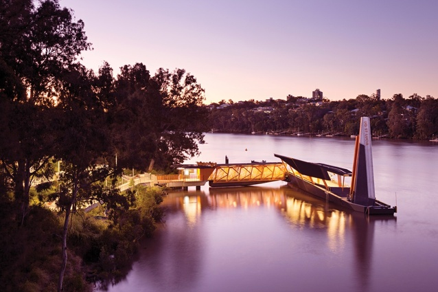 Brisbane Ferry Terminals by Aurecon and Cox Rayner Architects (now Cox Architecture), landscape architecture by Lat27.