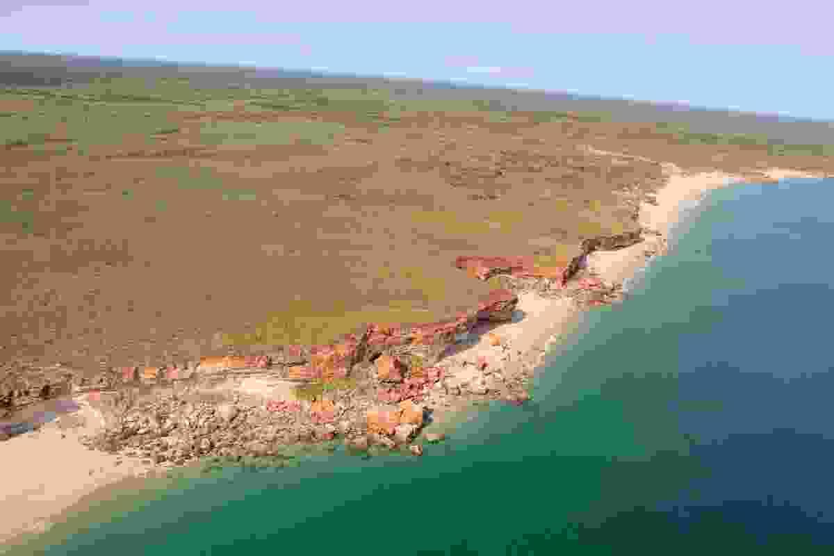 Aerial view of Thangoo coastline.