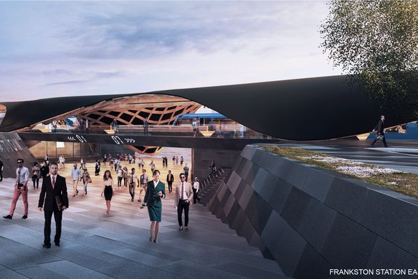 Proposal for the new Frankston railway station by Supermanouvre.