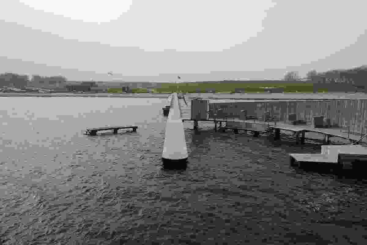 The view from the sea bath back towards the Copenhagen shore.