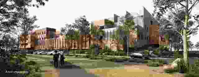 托马斯·恩布林医院扩建概念形象。