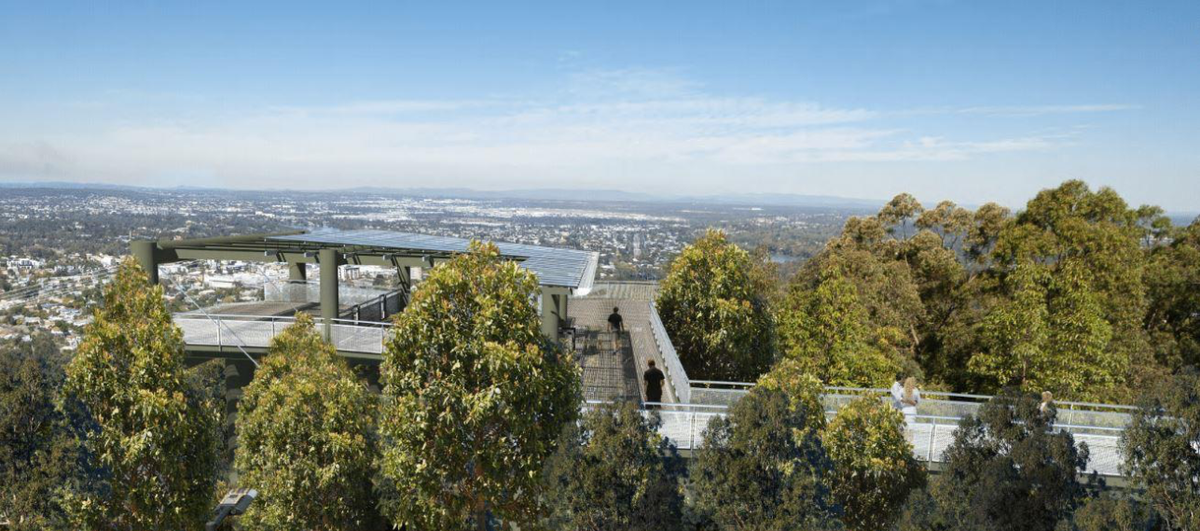 The proposed Mt Coot-tha zipline development.