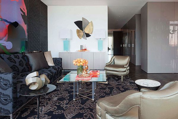 Colour in Residential Design – Harbour Penthouse by David Hicks.