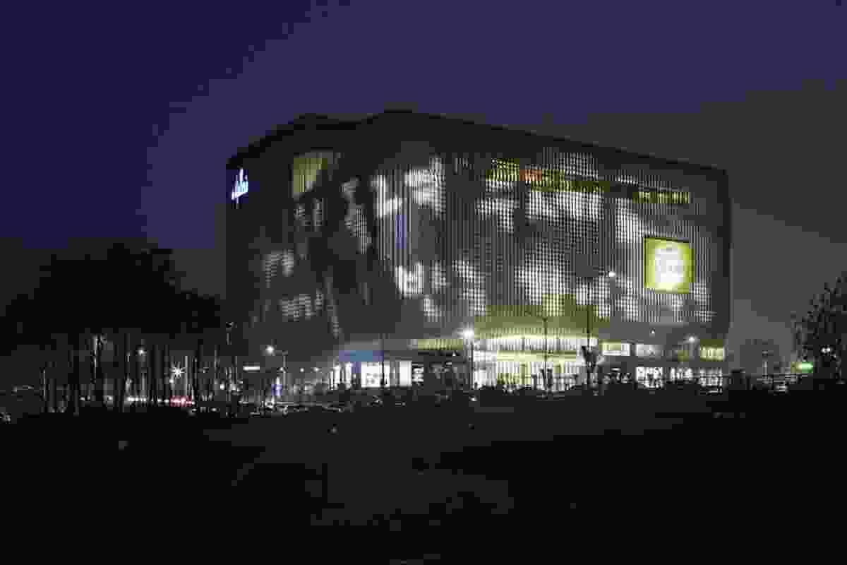 Galleria Centercity in Cheonan, Korea, by night.
