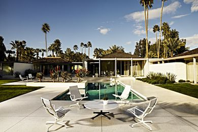 The Eames Aluminium Group Outdoor collection.