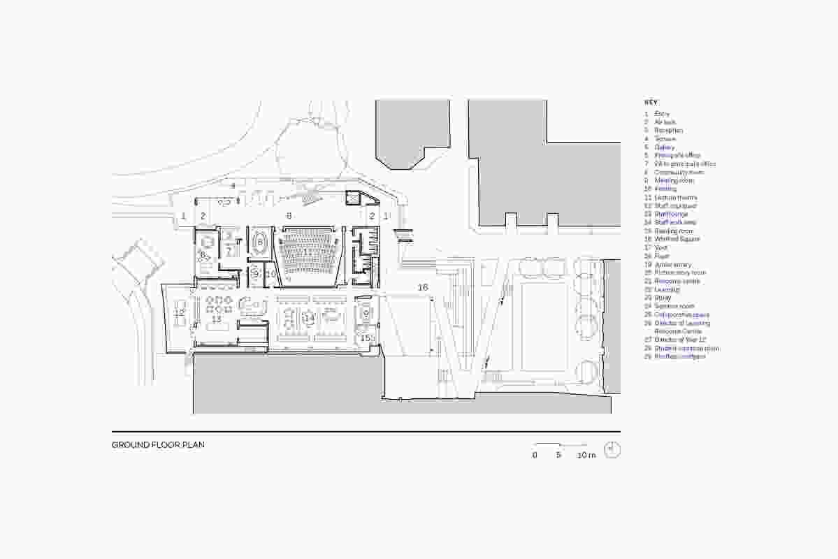 Ground floor plan of the Mandeville Centre