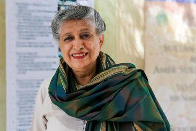 Pakistan's first woman architect Yasmeen Lari.