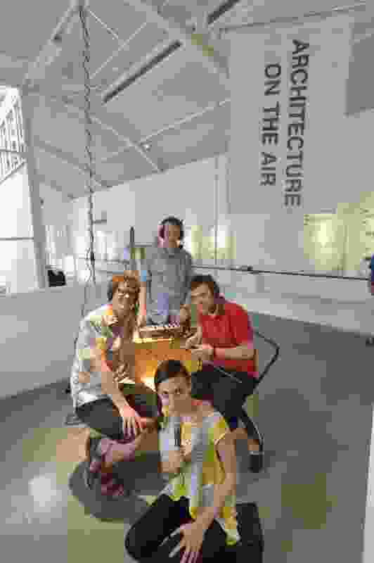"""The Architects Radio Show"" Stuart Harrison, Rory Hyde, Simon Knott and Christine Phillips."