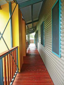 View eastward along the northern verandah.Image: Simon Scally