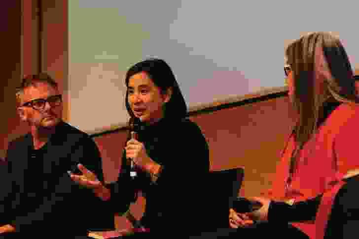 Sanitas Pradittassnee of Bangkok-based Sanitas Studio during the panel discussion.