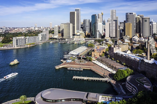 Wood for the trees: Kerry Hill Architects' One Circular Quay tower sits right on the waterfront of Sydney's famous quay.