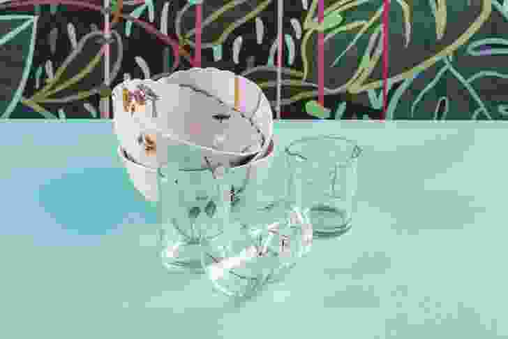 Kintsugi glasses and bowls from Seletti