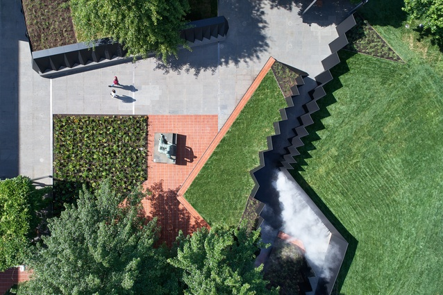 Aerial view of <i>Doubleground</i> by Muir and Openwork.