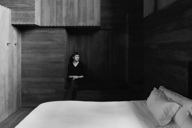 The entire interior of Room by Antony Gormley is clad in dark fumed oak.