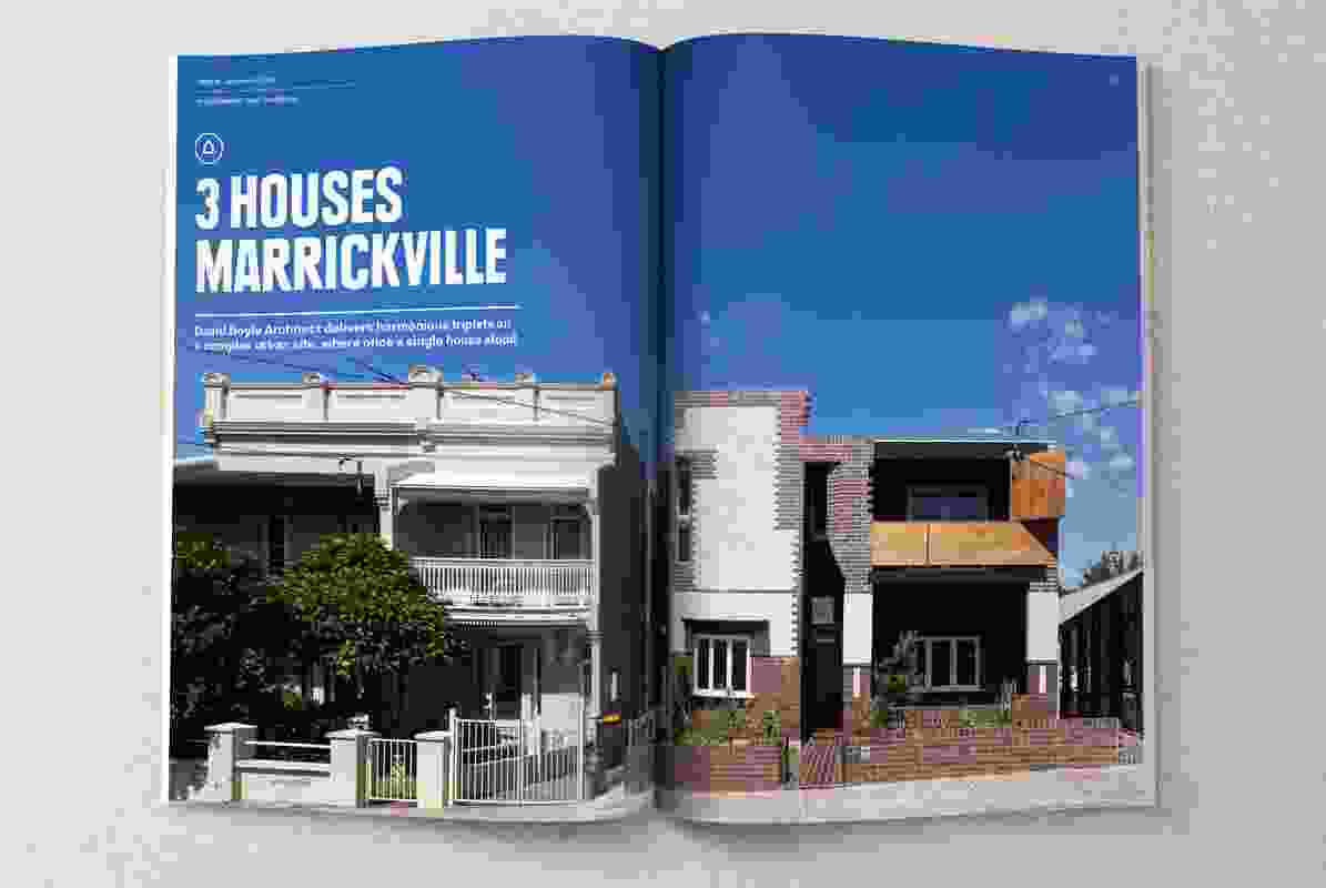 Three Houses Marrickville by David Boyle Architect.