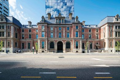 The State Buildings by Architect: Kerry Hill Architects, heritage architect: Palassis Architects.