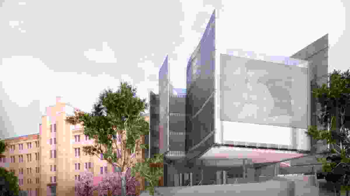 Museum of Contemporary Art (competition entry 2001) in Sydney by Francis-Jones Morehen Thorp (FJMT). Digital reconstruction by Matt Delroy-Carr.