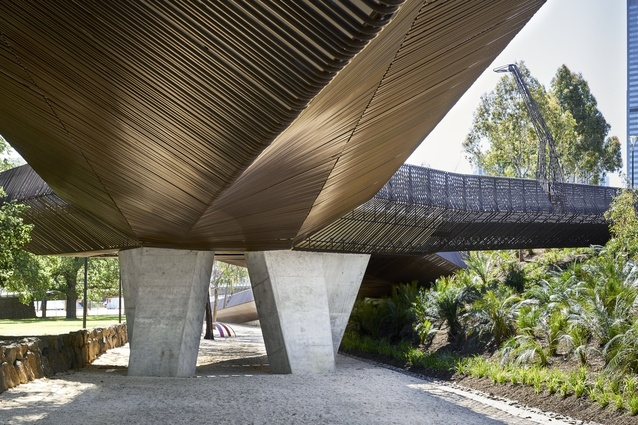 Tanderrum Bridge designed by John Wardle Architects and NADAAA.